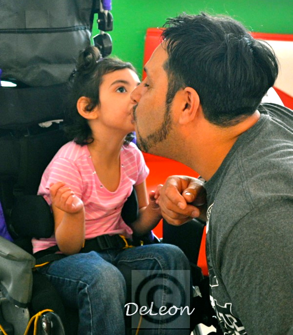 I always have kisses for daddy!