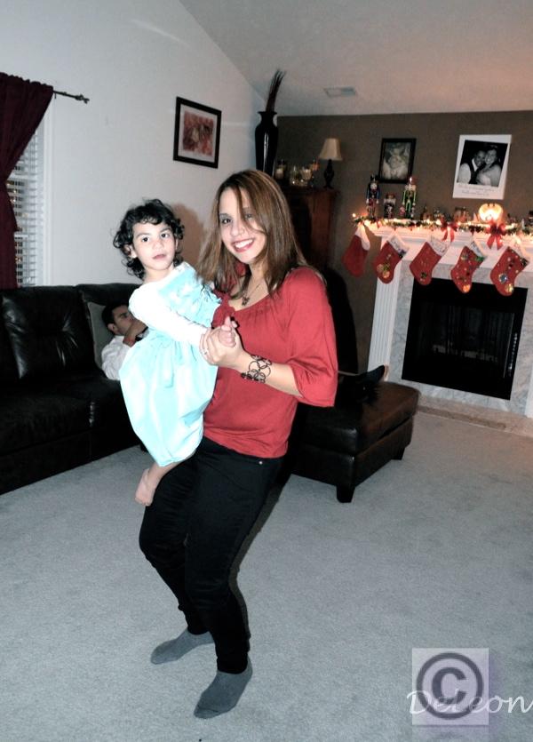 Barbara dancing with Sophie