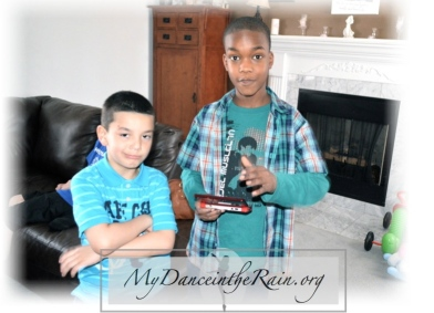 Elyas and Jeremiah...New friends!